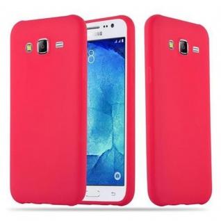 Cadorabo Hülle für Samsung Galaxy J5 2015 in CANDY ROT - Handyhülle aus flexiblem TPU Silikon - Silikonhülle Schutzhülle Ultra Slim Soft Back Cover Case Bumper
