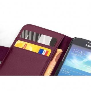Cadorabo Hülle für Samsung Galaxy S5 MINI / S5 MINI DUOS in BORDEAUX LILA Handyhülle aus strukturiertem Kunstleder mit Standfunktion und Kartenfach Case Cover Schutzhülle Etui Tasche Book Klapp Style - Vorschau 2