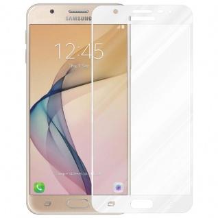 Cadorabo Vollbild Panzer Folie für Samsung Galaxy J7 PRIME / ON7 2016 - Schutzfolie in TRANSPARENT mit WEISS - Gehärtetes (Tempered) Display-Schutzglas in 9H Härte mit 3D Touch Kompatibilität - Vorschau 2