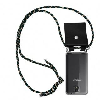 Cadorabo Handy Kette für Samsung Galaxy NOTE 3 in CAMOUFLAGE - Silikon Necklace Umhänge Hülle mit Silber Ringen, Kordel Band Schnur und abnehmbarem Etui - Schutzhülle