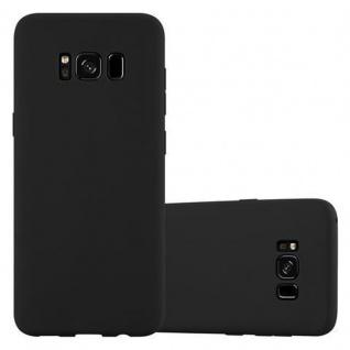 Cadorabo Hülle für Samsung Galaxy S8 in CANDY SCHWARZ Handyhülle aus flexiblem TPU Silikon Silikonhülle Schutzhülle Ultra Slim Soft Back Cover Case Bumper