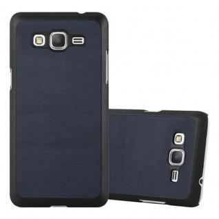 Cadorabo Hülle für Samsung Galaxy GRAND PRIME in WOODY BLAU ? Hardcase Handyhülle aus Plastik gegen Kratzer und Stöße ? Schutzhülle Bumper Ultra Slim Back Case Hard Cover