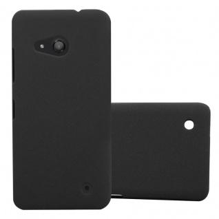 Cadorabo Hülle für Nokia Lumia 550 in FROSTY SCHWARZ - Hardcase Handyhülle aus Plastik gegen Kratzer und Stöße - Schutzhülle Bumper Ultra Slim Back Case Hard Cover