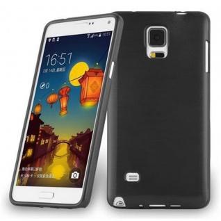Cadorabo Hülle für Samsung Galaxy NOTE 4 in SCHWARZ - Handyhülle aus flexiblem TPU Silikon - Silikonhülle Schutzhülle Ultra Slim Soft Back Cover Case Bumper