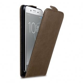 Cadorabo Hülle für Sony Xperia XZ Premium in KAFFEE BRAUN - Handyhülle im Flip Design mit Magnetverschluss - Case Cover Schutzhülle Etui Tasche Book Klapp Style