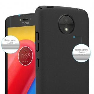 Cadorabo Hülle für Motorola MOTO C PLUS in FROSTY SCHWARZ - Hardcase Handyhülle aus Plastik gegen Kratzer und Stöße - Schutzhülle Bumper Ultra Slim Back Case Hard Cover - Vorschau 3