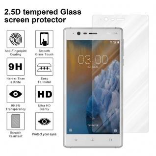 Cadorabo Panzer Folie für Nokia 3 2017 - Schutzfolie in KRISTALL KLAR - Gehärtetes (Tempered) Display-Schutzglas in 9H Härte mit 3D Touch Kompatibilität - Vorschau 4