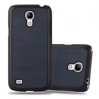 Cadorabo Hülle für Samsung Galaxy S4 MINI in WOODY BLAU - Hardcase Handyhülle aus Plastik gegen Kratzer und Stöße - Schutzhülle Bumper Ultra Slim Back Case Hard Cover - Vorschau 1