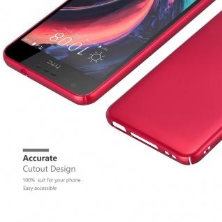 Cadorabo Hülle für HTC Desire 10 Lifestyle / Desire 825 in METALL ROT ? Hardcase Handyhülle aus Plastik gegen Kratzer und Stöße ? Schutzhülle Bumper Ultra Slim Back Case Hard Cover - Vorschau 5
