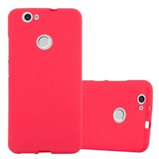 Cadorabo Hülle für Huawei NOVA in FROST ROT - Handyhülle aus flexiblem TPU Silikon - Silikonhülle Schutzhülle Ultra Slim Soft Back Cover Case Bumper