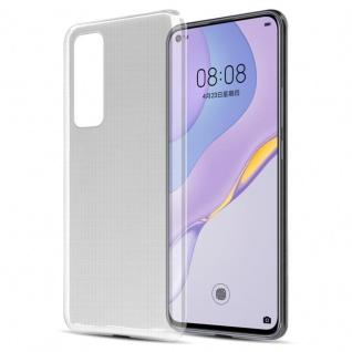 Cadorabo Hülle für Huawei Nova 7 5G in VOLL TRANSPARENT Handyhülle aus flexiblem TPU Silikon Silikonhülle Schutzhülle Ultra Slim Soft Back Cover Case Bumper