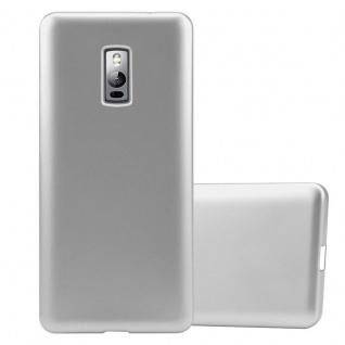 Cadorabo Hülle für OnePlus 2 in METALLIC SILBER - Handyhülle aus flexiblem TPU Silikon - Silikonhülle Schutzhülle Ultra Slim Soft Back Cover Case Bumper