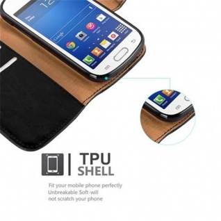 Cadorabo Hülle für Samsung Galaxy TREND LITE in GRAPHIT SCHWARZ ? Handyhülle mit Magnetverschluss, Standfunktion und Kartenfach ? Case Cover Schutzhülle Etui Tasche Book Klapp Style - Vorschau 4