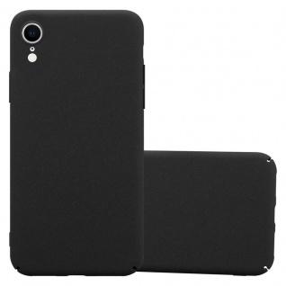 Cadorabo Hülle für Apple iPhone XR in FROSTY SCHWARZ - Hardcase Handyhülle aus Plastik gegen Kratzer und Stöße - Schutzhülle Bumper Ultra Slim Back Case Hard Cover