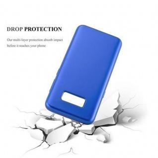 Cadorabo Hülle für Samsung Galaxy S8 in METALLIC BLAU - Handyhülle aus flexiblem TPU Silikon - Silikonhülle Schutzhülle Ultra Slim Soft Back Cover Case Bumper - Vorschau 3