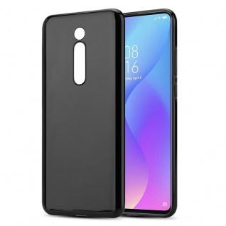 Cadorabo Hülle für Xiaomi Mi 9T / 9T PRO in SCHWARZ - Handyhülle aus flexiblem TPU Silikon - Silikonhülle Schutzhülle Ultra Slim Soft Back Cover Case Bumper