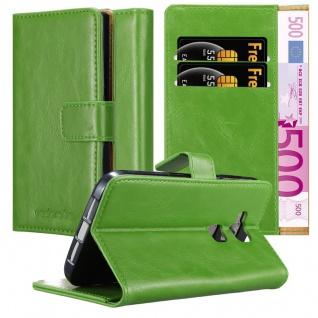 Cadorabo Hülle für Huawei G7 PLUS / G8 / GX8 in GRAS GRÜN ? Handyhülle mit Magnetverschluss, Standfunktion und Kartenfach ? Case Cover Schutzhülle Etui Tasche Book Klapp Style