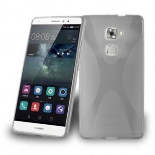 Cadorabo Hülle für Huawei MATE S in HALB TRANSPARENT ? Handyhülle aus flexiblem TPU Silikon ? Silikonhülle Schutzhülle Ultra Slim Soft Back Cover Case Bumper