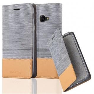 Cadorabo Hülle für Samsung Galaxy Xcover 4 in HELL GRAU BRAUN - Handyhülle mit Magnetverschluss, Standfunktion und Kartenfach - Case Cover Schutzhülle Etui Tasche Book Klapp Style