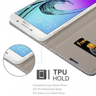 Cadorabo Hülle für Samsung Galaxy A7 2016 in DUNKEL BLAU SCHWARZ - Handyhülle mit Magnetverschluss, Standfunktion und Kartenfach - Case Cover Schutzhülle Etui Tasche Book Klapp Style - Vorschau 3