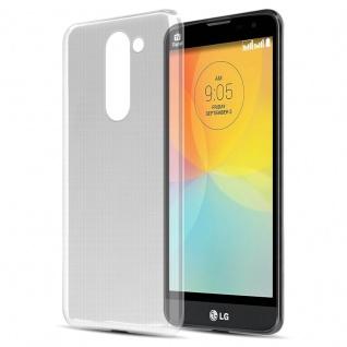 Cadorabo Hülle für LG L BELLO - Hülle in VOLL TRANSPARENT ? Handyhülle aus TPU Silikon im Ultra Slim 'AIR' Design - Ultra Slim Soft Backcover Case Bumper