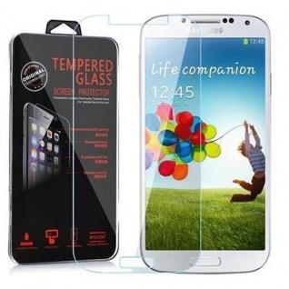 Cadorabo Panzer Folie für Samsung Galaxy S4 Schutzfolie in KRISTALL KLAR Gehärtetes (Tempered) Display-Schutzglas in 9H Härte mit 3D Touch Kompatibilität