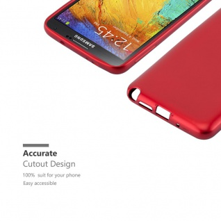 Cadorabo Hülle für Samsung Galaxy NOTE 3 NEO in METALLIC ROT - Handyhülle aus flexiblem TPU Silikon - Silikonhülle Schutzhülle Ultra Slim Soft Back Cover Case Bumper - Vorschau 2