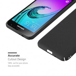 Cadorabo Hülle für Samsung Galaxy J3 / J3 DUOS 2016 in FROSTY SCHWARZ - Hardcase Handyhülle aus Plastik gegen Kratzer und Stöße - Schutzhülle Bumper Ultra Slim Back Case Hard Cover - Vorschau 5