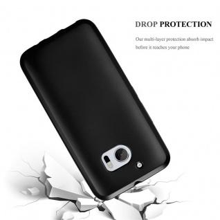 Cadorabo Hülle für HTC 10 (One M10) in METALLIC SCHWARZ - Handyhülle aus flexiblem TPU Silikon - Silikonhülle Schutzhülle Ultra Slim Soft Back Cover Case Bumper - Vorschau 3