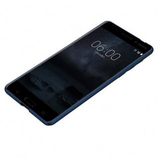 Cadorabo Hülle für Nokia 8 2017 in METALL BLAU ? Hardcase Handyhülle aus Plastik gegen Kratzer und Stöße ? Schutzhülle Bumper Ultra Slim Back Case Hard Cover - Vorschau 3
