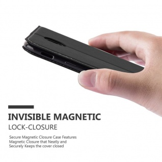 Cadorabo Hülle für Samsung Galaxy J5 2017 in SCHWARZ BRAUN ? Handyhülle mit Magnetverschluss, Standfunktion und Kartenfach ? Case Cover Schutzhülle Etui Tasche Book Klapp Style - Vorschau 5