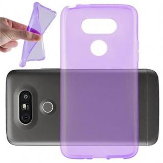 Cadorabo Hülle für LG G5 - Hülle in TRANSPARENT LILA ? Handyhülle aus TPU Silikon im Ultra Slim 'AIR' Design - Ultra Slim Soft Backcover Case Bumper