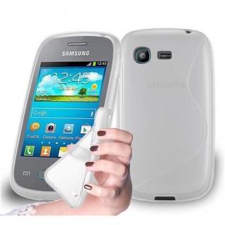 Cadorabo Hülle für Samsung Galaxy POCKET in HALB TRANSPARENT ? Handyhülle aus flexiblem TPU Silikon ? Silikonhülle Schutzhülle Ultra Slim Soft Back Cover Case Bumper
