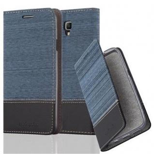 Cadorabo Hülle für Samsung Galaxy NOTE 3 NEO in DUNKEL BLAU SCHWARZ - Handyhülle mit Magnetverschluss, Standfunktion und Kartenfach - Case Cover Schutzhülle Etui Tasche Book Klapp Style