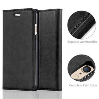 Cadorabo Hülle für Apple iPhone 6 / iPhone 6S in NACHT SCHWARZ - Handyhülle mit Magnetverschluss, Standfunktion und Kartenfach - Case Cover Schutzhülle Etui Tasche Book Klapp Style - Vorschau 2