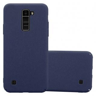 Cadorabo Hülle für LG K10 2016 in FROSTY BLAU - Hardcase Handyhülle aus Plastik gegen Kratzer und Stöße - Schutzhülle Bumper Ultra Slim Back Case Hard Cover