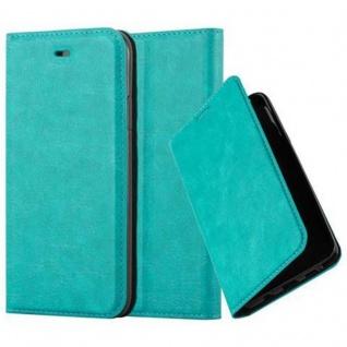 Cadorabo Hülle für Apple iPhone X / XS in PETROL TÜRKIS - Handyhülle mit Magnetverschluss, Standfunktion und Kartenfach - Case Cover Schutzhülle Etui Tasche Book Klapp Style