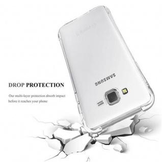 Cadorabo Hülle für Samsung Galaxy J7 2015 (5) - Hülle in KOMPLETT TRANSPARENT - Handyhülle aus TPU Silikon mit Schlaufe im Small Waist Design - Silikonhülle Schutzhülle Ultra Slim Soft Back Cover Case Bumper - Vorschau 4