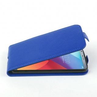 Cadorabo Hülle für LG G6 - Hülle in KÖNIGS BLAU ? Handyhülle aus strukturiertem Kunstleder im Flip Design - Case Cover Schutzhülle Etui Tasche