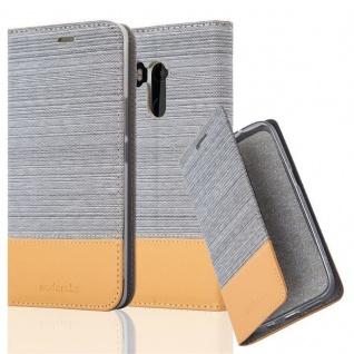 Cadorabo Hülle für HTC U11 PLUS in HELL GRAU BRAUN - Handyhülle mit Magnetverschluss, Standfunktion und Kartenfach - Case Cover Schutzhülle Etui Tasche Book Klapp Style