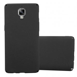 Cadorabo Hülle für OnePlus 3 / 3T in FROSTY SCHWARZ - Hardcase Handyhülle aus Plastik gegen Kratzer und Stöße - Schutzhülle Bumper Ultra Slim Back Case Hard Cover