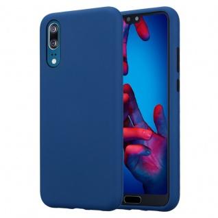 Cadorabo Hülle für Huawei P20 in DUNKEL BLAU ? Hybrid Handyhülle mit TPU Silikon Innenseite und 2teiliger Kunststoff Außenseite ? Schutzhülle Hybrid Hardcase Back Case