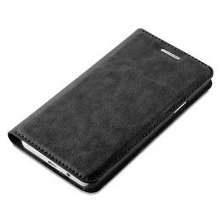 Cadorabo Hülle für Samsung Galaxy A3 2015 in NACHT SCHWARZ - Handyhülle mit Magnetverschluss, Standfunktion und Kartenfach - Case Cover Schutzhülle Etui Tasche Book Klapp Style - Vorschau 4