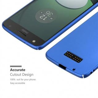 Cadorabo Hülle für Motorola MOTO Z in METALL BLAU ? Hardcase Handyhülle aus Plastik gegen Kratzer und Stöße ? Schutzhülle Bumper Ultra Slim Back Case Hard Cover - Vorschau 5
