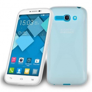 Cadorabo Hülle für Alcatel One Touch POP C9 in HALB TRANSPARENT ? Handyhülle aus flexiblem TPU Silikon ? Silikonhülle Schutzhülle Ultra Slim Soft Back Cover Case Bumper