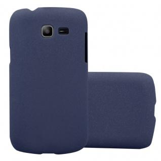 Cadorabo Hülle für Samsung Galaxy TREND LITE in FROSTY BLAU - Hardcase Handyhülle aus Plastik gegen Kratzer und Stöße - Schutzhülle Bumper Ultra Slim Back Case Hard Cover