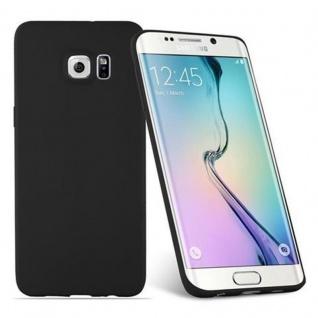 Cadorabo Hülle für Samsung Galaxy S6 EDGE PLUS in CANDY SCHWARZ - Handyhülle aus flexiblem TPU Silikon - Silikonhülle Schutzhülle Ultra Slim Soft Back Cover Case Bumper - Vorschau 2