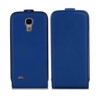 Cadorabo Hülle für Samsung Galaxy S4 MINI in BRILLIANT BLAU - Handyhülle im Flip Design aus glattem Kunstleder - Case Cover Schutzhülle Etui Tasche Book Klapp Style - Vorschau 2