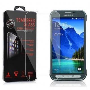 Cadorabo Panzer Folie für Samsung Galaxy S5 Active - Schutzfolie in KRISTALL KLAR - Gehärtetes (Tempered) Display-Schutzglas in 9H Härte mit 3D Touch Kompatibilität