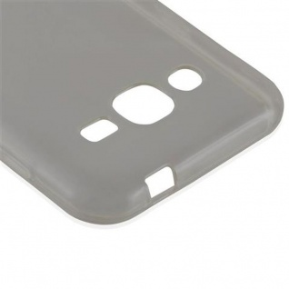 Cadorabo Hülle für Samsung Galaxy J2 2015 in TRANSPARENT SCHWARZ - Handyhülle aus flexiblem TPU Silikon - Silikonhülle Schutzhülle Ultra Slim Soft Back Cover Case Bumper - Vorschau 4